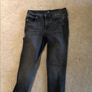 GAP true skinny 28R dark grey denim jeans
